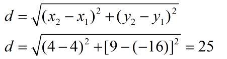 חישוב מרחק בין שתי נקודות פתרון מבחן בגרות