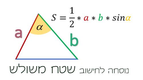 נוסחה לחישוב שטח משולש